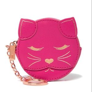 TED BAKER TABBIEE Leather cat coin purse keyring